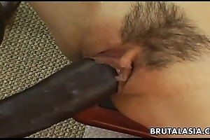 Smokin' hot oriental trull has a ebony load of shit to have in mind