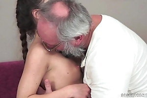Teenie anita bellini acquires screwed away from a grandpa
