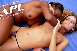 Interracial catfight motivation flaxen-haired and disgraceful billyon