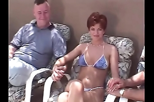 Unplanned hair redhead swinger Threesome